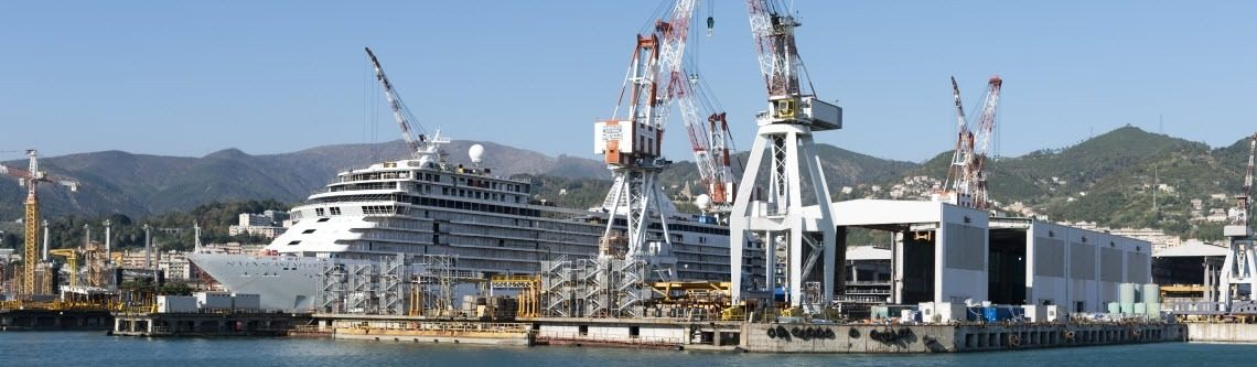 Genova Fincantieri porto Msc