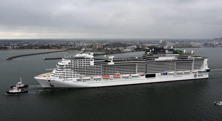 Msc Grandiosa prove in mare
