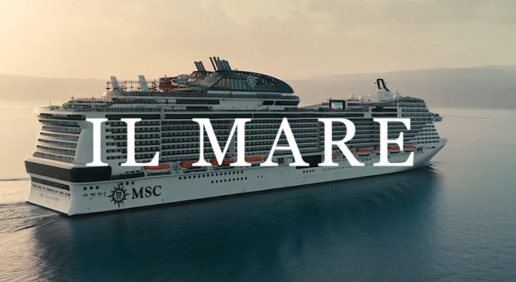 Il mare oltre campagna globale di brand Msc Crociere