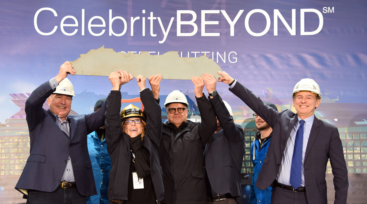 Celebrity Beyond taglio lamiera Celebrity Cruises