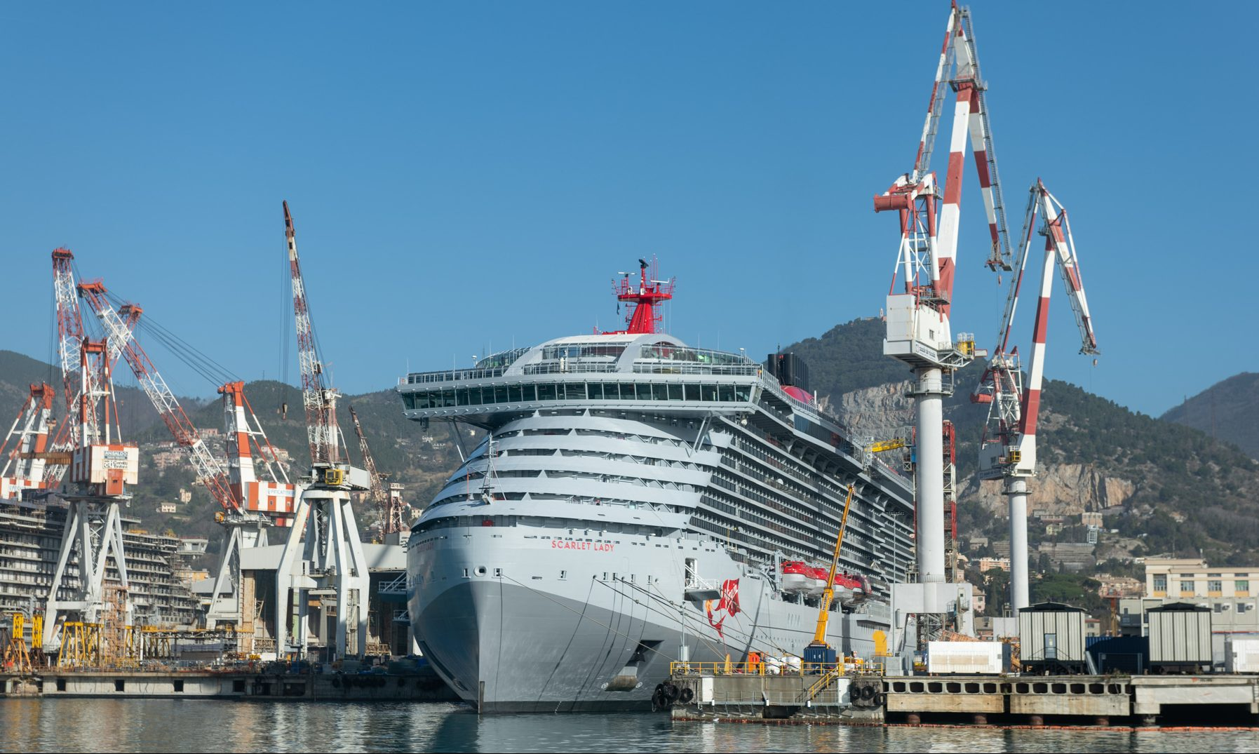 Scarlet Lady Virgin Voyages Fincantieri Sestri Ponente Genova
