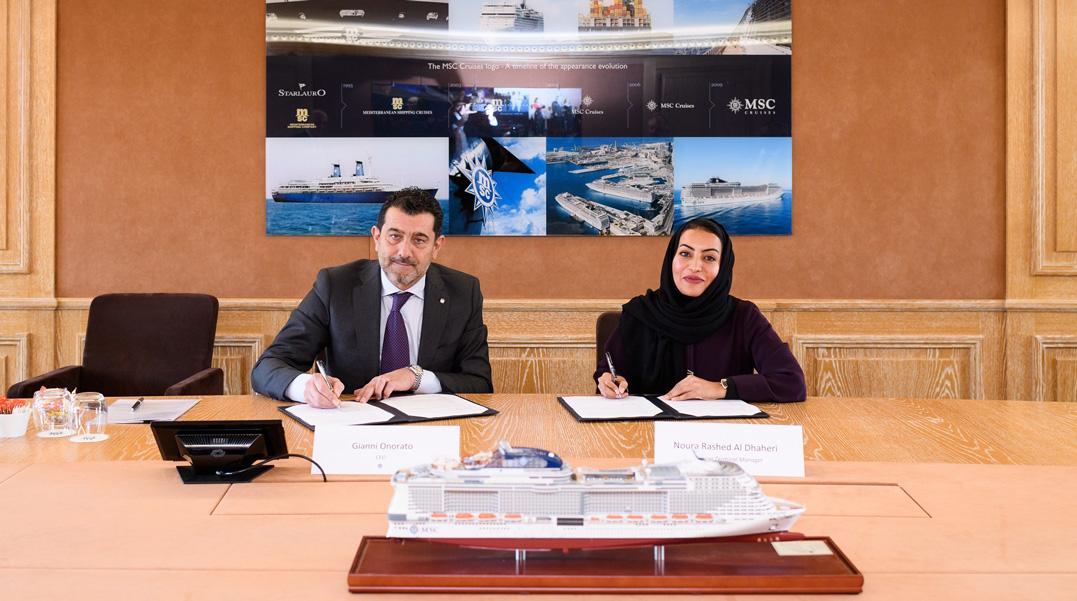 Gianni Onorato Noura Rashid Al Dhaheri Msc Crociere Abu Dhabi Ports