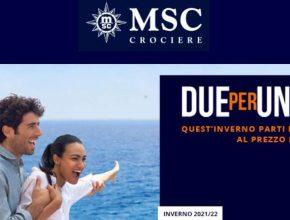 Msc Crociere promo 2x1 inverno